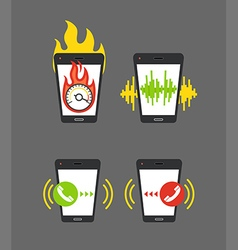 Different smartphone activities vector image