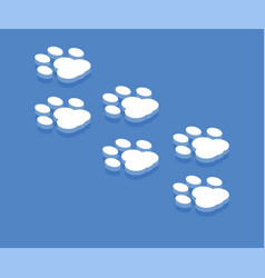 dog paw icon isometric template for web design vector image