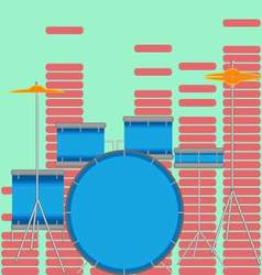 Drum set flat style vector