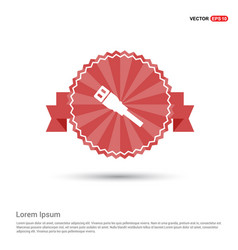 Ethernet cable icon - red ribbon banner vector