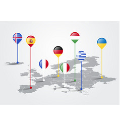 Europe map infographic for slide presentation vector