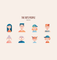 Family avatar pack in gradient vector
