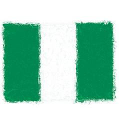 flag nigeria grunge style vector image