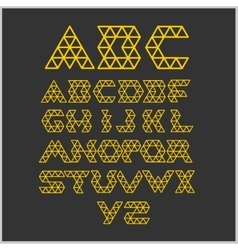 Font from triangles - set vector image