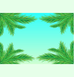 frame fir branches vector image