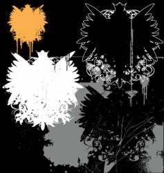 Grunge heraldry pack vector