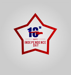 Happy chile independence day template design vector