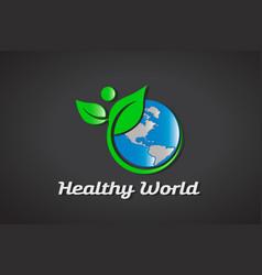 healthy world logo vector image