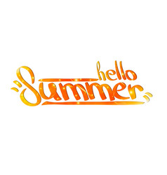 hello summer hand painted calligraphy vector image