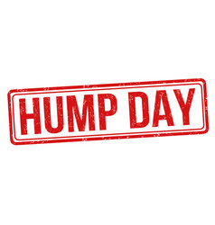 Hump day grunge rubber stamp vector