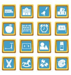 kindergarten symbol icons azure vector image