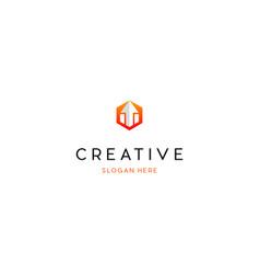 letter m arrow creative logo vector image