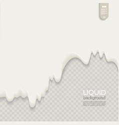 liquid background fluid shape composition vector image