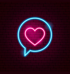 Love speech bubble neon sign vector