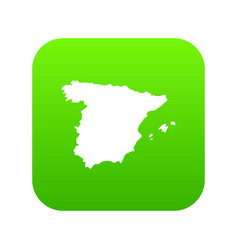 map of spain icon digital green vector image
