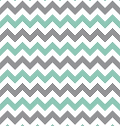 Mint green and grey seamless chevron pattern vector