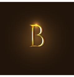Modern of Gold Letter B vector image