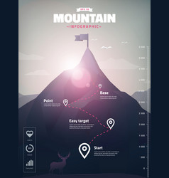 Mountain peak infographic vector