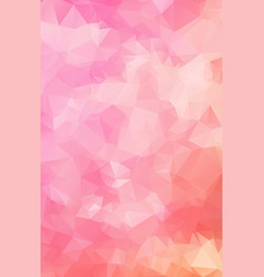 multicolor pink white geometric rumpled vector image