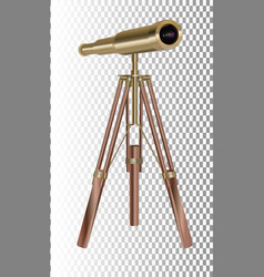 old telescope on transparent background concept vector image