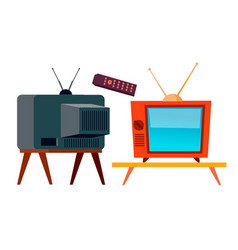 old tv retro television screen isolated vector image