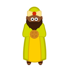 one of the three wise men cartoon character vector image