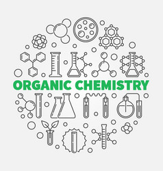 Organic chemistry round in vector