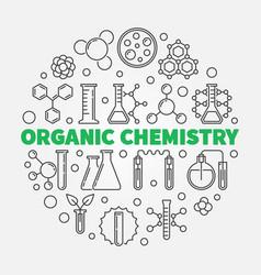 Organic chemistry round vector