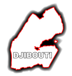 Outline map of djibouti vector