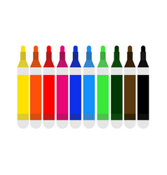 pen multi colour marker vector image