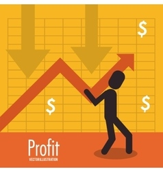 Profit icon design vector image