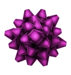 Purple bow top view EPS 10 vector image