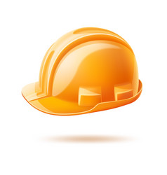 realistic hard hat safery helmet labour day vector image