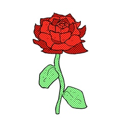 rose comic cartoon vector image
