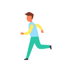 runner male active person vector image