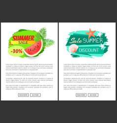 Sale summertime poster with text seasonal proposal vector