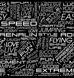 Seamless pattern of words of racing cars vector