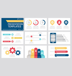 set grey yellow red and blue elements vector image