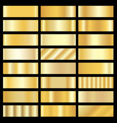 set of gold gradients vector image