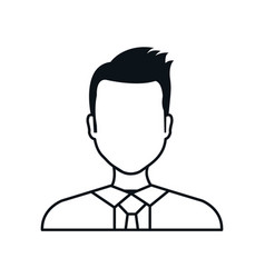 silhouette man avatar isolated vector image