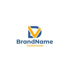 Simple dv logo design vector