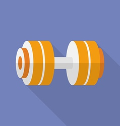 Sport dumbbell icon Modern Flat style with a long vector image