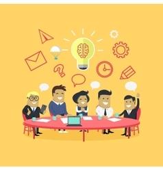 Strategy Team Brainstorm vector