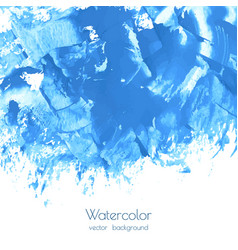 turquoise blue watercolor texture vector image