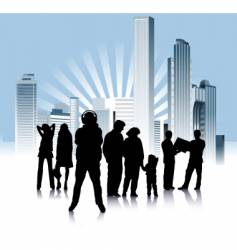 urban people variation vector image
