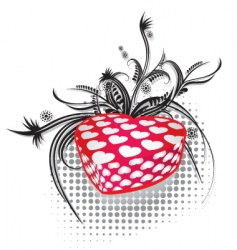 valentines gift 2 vector image