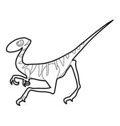 Velociraptor icon outline vector