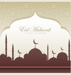 Eid festival card beatiful background vector