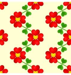 Heart flower seamless wallpaper vector image