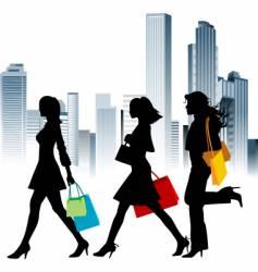 urban shopping vector image vector image